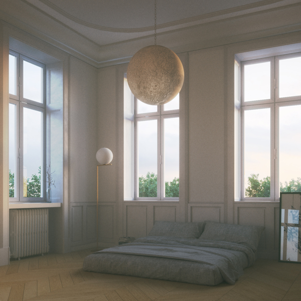 Moony – Rendering d'Interno